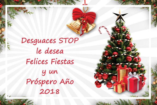 felices fiestas y ano 2018 desguaces stop blog