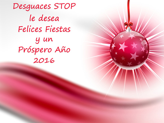 felices fiestas y prospero 2016 desguaces stop