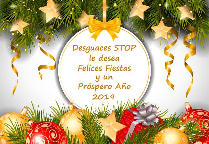 feliz navidad y prospero ano 2019 desguaces stop